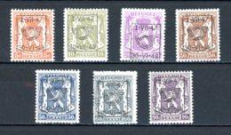 BE  PRE567 - 573   ---   Surcharge D  --  XX  --  Etat Parfait... - Typo Precancels 1936-51 (Small Seal Of The State)