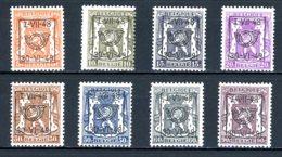 BE  PRE581 - 588   ---   Surcharge D  --  XX  --  Etat Parfait... - Typo Precancels 1936-51 (Small Seal Of The State)