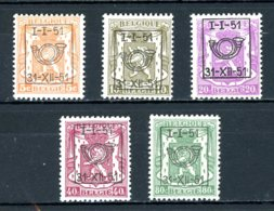 BE  PRE599 - 603   ---   Surcharge D  --  XX  --  Etat Parfait... - Typo Precancels 1936-51 (Small Seal Of The State)