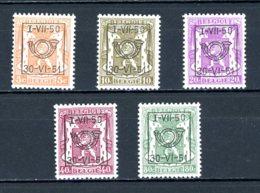 BE  PRE604 - 608   ---   Surcharge D  --  XX  --  Etat Parfait... - Typo Precancels 1936-51 (Small Seal Of The State)