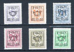BE  PRE614 - 619   ---   Surcharge D Sur Lion Héraldique   --  XX  --  Etat Parfait... - Typo Precancels 1936-51 (Small Seal Of The State)