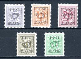 BE  PRE620 - 624   ---   Surcharge D Sur Lion Héraldique   --  XX  --  Etat Parfait... - Typo Precancels 1936-51 (Small Seal Of The State)