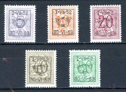 BE  PRE625 - 629   ---   Surcharge D Sur Lion Héraldique   --  XX  --  Etat Parfait... - Typo Precancels 1936-51 (Small Seal Of The State)