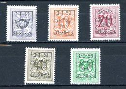 BE  PRE630 - 634   ---   Surcharge D Sur Lion Héraldique   --  XX  --  Etat Parfait... - Typo Precancels 1936-51 (Small Seal Of The State)