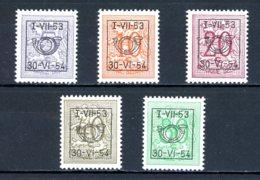 BE  PRE635 - 639   ---   Surcharge D Sur Lion Héraldique   --  XX  --  Etat Parfait... - Typo Precancels 1936-51 (Small Seal Of The State)
