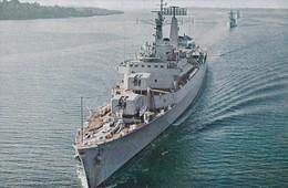 Postcard HMS London Guided Missile Destroyer [ Royal Navy Interest ] My Ref  B23913 - Warships