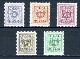 BE  PRE640 - 644   ---   Surcharge D Sur Lion Héraldique   --  XX  --  Etat Parfait... - Typo Precancels 1936-51 (Small Seal Of The State)