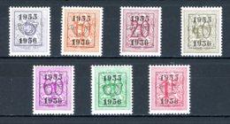 BE  PRE652 - 658   ---   Surcharge E Sur Lion Héraldique   --  XX  --  Etat Parfait... - Typo Precancels 1936-51 (Small Seal Of The State)