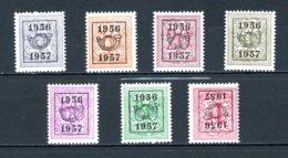 BE  PRE659 - 665   ---   Surcharge E Sur Lion Héraldique   --  XX  --  Etat Parfait... - Typo Precancels 1936-51 (Small Seal Of The State)