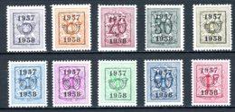 BE  PRE666 - 675   ---   Surcharge E Sur Lion Héraldique   --  X   --   Très Faible Charnière... - Typo Precancels 1936-51 (Small Seal Of The State)