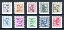 BE  PRE666 - 675   ---   Surcharge E Sur Lion Héraldique   --  XX  --  Etat Parfait... - Typo Precancels 1936-51 (Small Seal Of The State)
