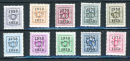 BE  PRE676 - 685   ---   Surcharge E Sur Lion Héraldique   --  X   --   Très Faible Charnière... - Typo Precancels 1936-51 (Small Seal Of The State)
