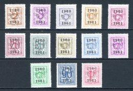 BE  PRE699 - 711   ---   Surcharge E Sur Lion Héraldique   --  XX  --  Etat Parfait... - Typo Precancels 1936-51 (Small Seal Of The State)