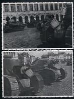 2 AK/CP Saint Omer  Marktplatz  Tanks  Panzer  1.WK WW   Ungel/uncirc. 1914 - 18  Erhaltung/Cond. 1-  Nr. 00913 - Saint Omer
