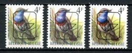 BE  PRE823P6 - 823P6a - 823P7b   ---   Buzin : Gorge Bleue  --  XX  --  Etat Parfait...   --  Les 3 Papiers - Typo Precancels 1986-..(Birds)