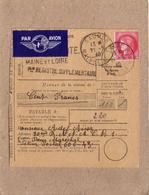 """INDRE ET LOIRE - SAUMUR - ARMEE D' ORIENT - MANDAT PAR AVION CACHET """" POSTES AUX ARMEES 606 """" , TROUPES AU LEVANT - 1940 - Postmark Collection (Covers)"""