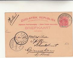 Standerton From Ginneken (Holland) Via Pretoria. Cartolina Intero Postale  Da 1 Penny - 1900 - - New Republic (1886-1887)