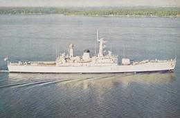 Postcard HMS Juno Leander Class Frigate Seen Here Off Singapore [ Royal Navy Interest ] My Ref  B23914 - Warships