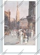 A 1000 WIEN, Stock Im Eisenplatz, Künstler-Karte, Fremdenverkehrsverband, Dackel - Wien Mitte