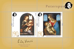 Russia. Peterspost. Leonardo Da Vinci. 500 Years From The Date Of Death, Block (FV Price!) - 1992-.... Federation