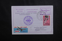 BELGIQUE - Aérogramme  Par 1er Vol Bruxelles / Bangkok En 1969  - L 50214 - Aerogrammes