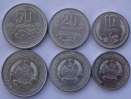 LAOS SERIE 3 PEZZI FDC 1980 50-20-10 ATT. - Laos
