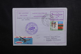 BELGIQUE - Aérogramme  Par 1er Vol Bruxelles / Bangkok En 1969  - L 50217 - Aerogrammes