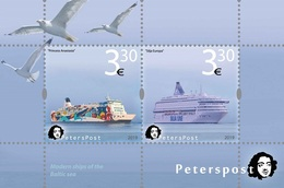 Finland. Peterspost. Modern Ships Of The Baltic Sea, 2019, Block (FV Price!) - Bateaux