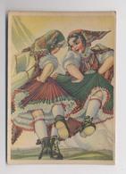 KÄRNTEN - Gailtal - Autriche - Carinthie - Trachten - DANSE - Costumes Autrichiens - Illustration - Österreich