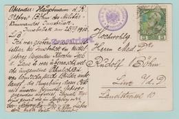 Aut.7 Zensur / Censure  CP Berg Isel Am Sillfall  25.9.16 + 2 Censures De Innsbruck - Cartas
