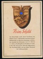 AK/CP Krim Schild  Medal  Ärmelschild    Propaganda Nazi    Ungel/uncirc  1942     Erhaltung/Cond. 2 / 2-  Nr. 00922 - War 1939-45