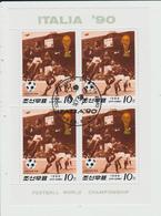 COREE DU NORD - BLOC FEUILLET FOOTBALL ITALIA 90 - Korea, North