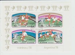 COREE DU NORD - BLOC FEUILLET FOOTBALL ARGENTINA 78 - Korea, North