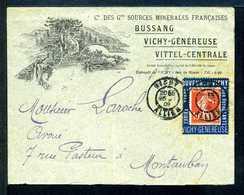 Semeuse N° 138 Sur Porte Timbre BUSSANG VICHY N° 1440 Yvert (livret De L'expert 2010) - 1906-38 Semeuse Camée