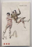PLEIN AIR Illustration Par MASSONET - Jeu De La Balançoire - CROIX ROUGE De BELGIQUE - Croix-Rouge