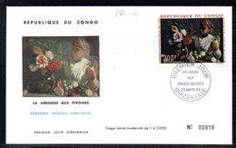 Congo A 066 Fdc Frédéric Bazille, Pivoine - Arts