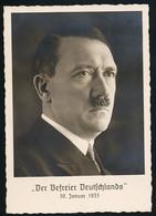 AK/CP Hitler  Befreier Deutschlands  Propaganda Nazi Ungel/uncirc  1938 Sonderstempel !  Erhaltung/Cond. 1-  Nr. 00924 - War 1939-45