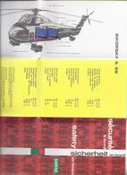 10-LUIK SABENA SECURITE A BORD BOEING JET CARAVELLE VI DOUGLAS DC. 7C SIKORSKY S.58 CONVAIR METROPOLITAN 440 - Pubblicitari