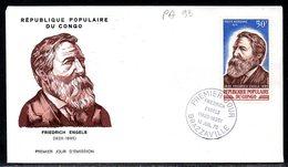 Congo A 099 Fdc Friedrich Engels , Communisme - Writers
