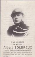 Souvenir Gendarme AS Dinant Tué 1942 Haut Le Wastia - Overlijden