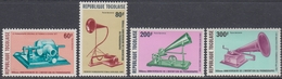 Togo 1978 - Airmail Stamps:  The 10th Anniversary Of Invention Of The Phonograph - Mi 1314-1317 ** MNH - Togo (1960-...)