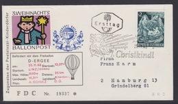 3. Ballonpost Österreich Christkindl Weihnachten 1963 - FDC