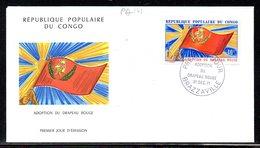 Congo A 141 Fdc Drapeau Rouge , Communisme - Buste