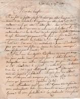 1789 - CETTE (34) L.A.S. Mme CABOT Née BATUT à Son Cher Beau-fils M. E. DESMAZES Négt. à St LAURENT DE LA SALANQUE - Documentos Históricos