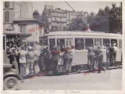 Superbe Et Rare Grand Format Marseille Tramway Le 53 St Just Le Châpitre - Trenes