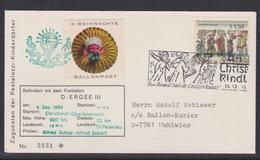 6. Ballonpost Österreich Christkindl Weihnachten 1966 - FDC