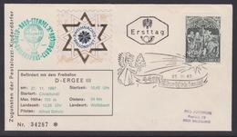 7. Ballonpost Österreich Christkindl Weihnachten 1967 - FDC