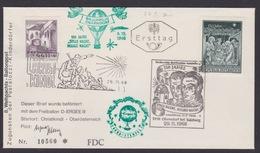 8. Ballonpost Österreich Christkindl Weihnachten 1968 - FDC
