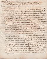 1792 - CETTE (34) L.S. GERNIER GUINARD & BERAILE (?) à M. E. DESMAZES Négt. à St LAURENT DE LA SALANQUE - Documentos Históricos
