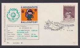 9. Ballonpost Österreich Christkindl Weihnachten 1969 - FDC